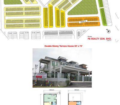 Double Storey Terrace House 20′ x 70′