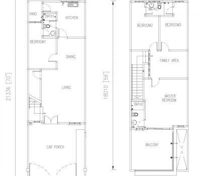 Floor Plan Bumi Lot Krubong Heights