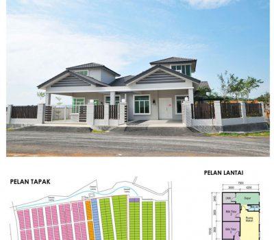 Single Storey Cluster House 36′ x 73′