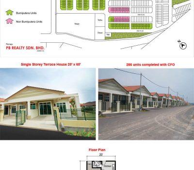 Single Storey Terrace House 20′ x 65′ (Phase 1)