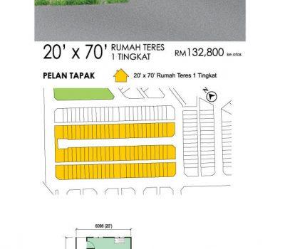 Single Storey Terrace House 20′ x 70′ (3A)