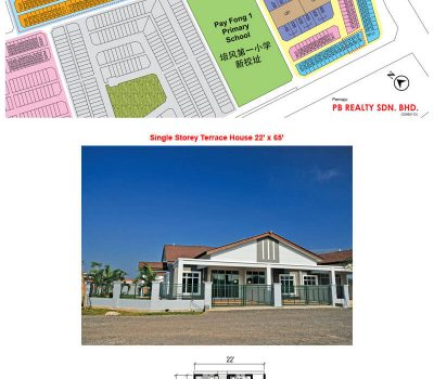 Single Storey Terrace House 22′ x 65′ (Phase 2 & 3)
