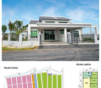 Single Storey Terrace House 24′ x 70′ - 24′ x 75′